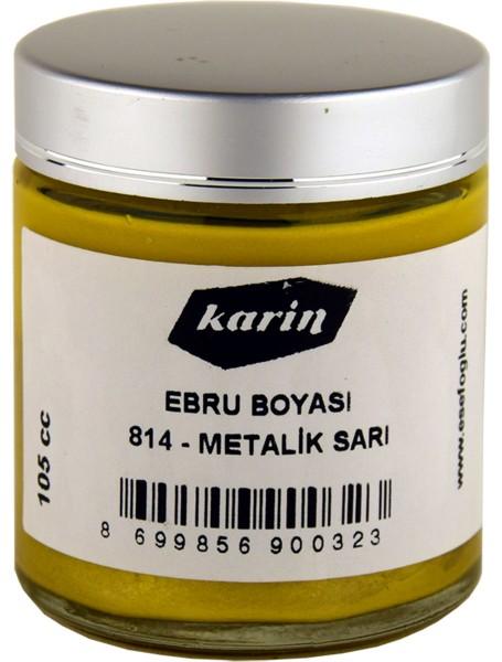 Marmorierfarbe Metallic Gelb 814