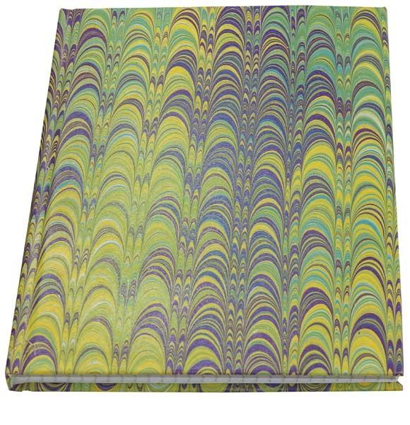 Gebundenes Notizbuch mit Ebru 6