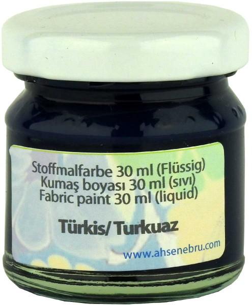 Stoffmalfarbe - Türkis 30 ml