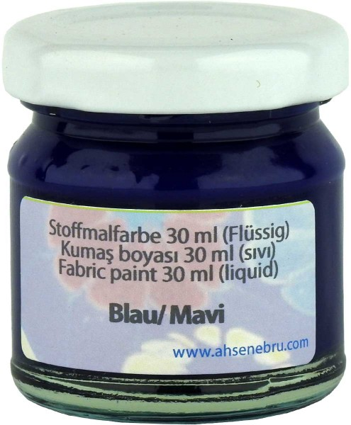 Stoffmalfarbe - Blau 30 ml