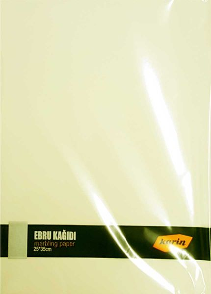 Ahsen Marmor Papier 25x35cm (Cremefarben 90g/m² - 100 Blatt)