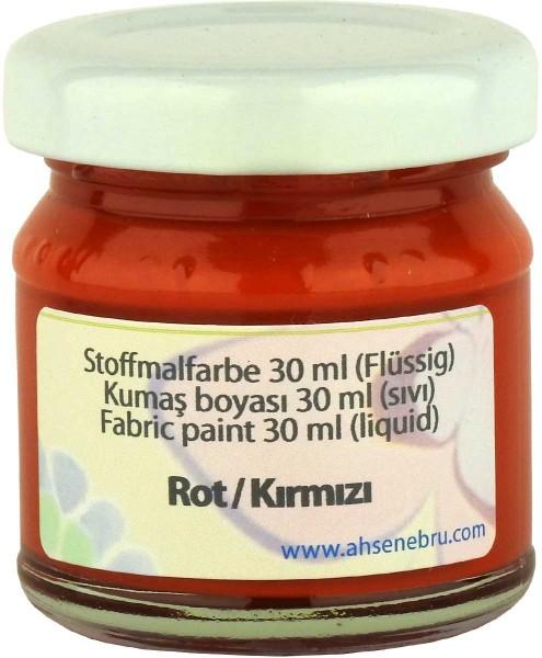 Stoffmalfarbe - Rot 30 ml