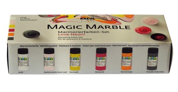 C.Kreul Magic Marble (Love Neon) Marmorierfarben-Set