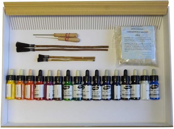 Wasser marmorierung Malerei Sets, 16 Farben Wasser Marmorierung Papier Ebru Kunst Werkzeug