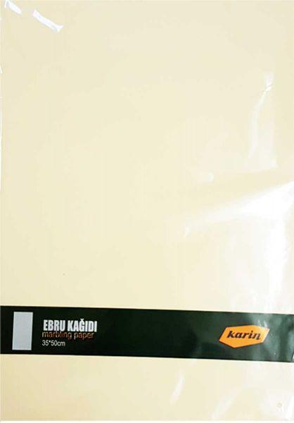 Ahsen Marmor Papier 35x50cm (Cremefarben 90g/m² - 100 Blatt)