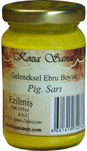 Koza Ebru Farbe Pigment Gelb, Marmorierfarbe