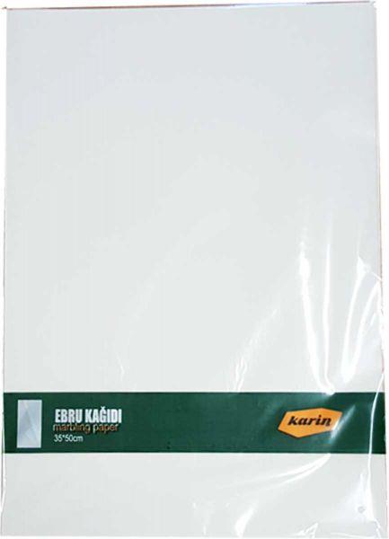 Ahsen Marmor Papier 35x50cm (Weiß 90g/m² - 100 Blatt)