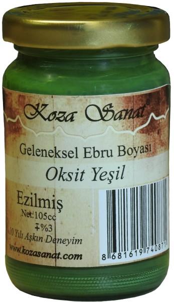 Koza Ebru Farbe Oxid Grün, Marmorierfarbe