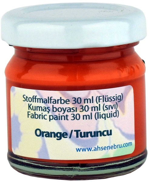 Stoffmalfarbe - Orange 30 ml